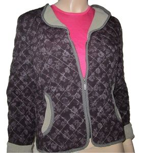 0ee7ae00941 New BETS by CANVASBACKS Boho Quilted Zip Jacket. NWT